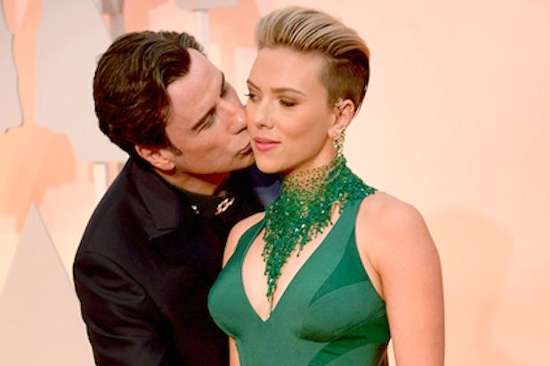 John Trovolta getting extra creepy, and Scarlet Johansson's uncomfortable expression. Caitlynn Pinson