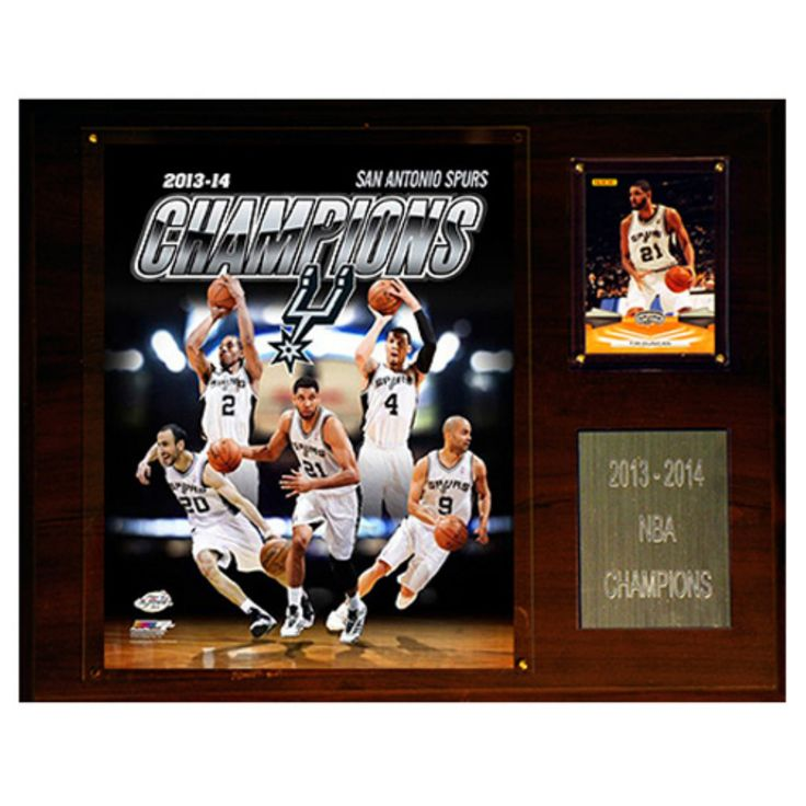 C and I Collectables NBA 15W x 12H in. San Antonio Spurs 2013-2014 NBA Champions Plaque - 1215NBA14