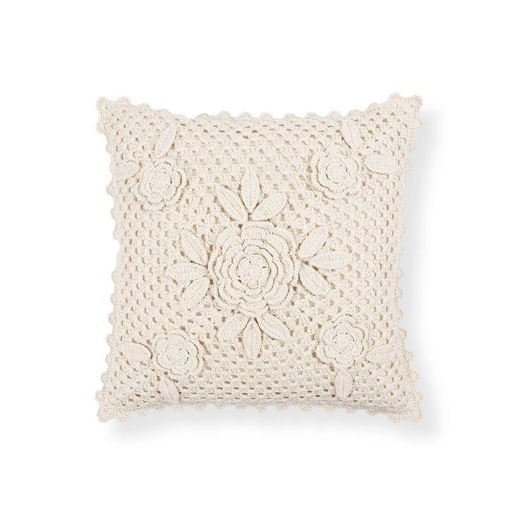 Crochet Cotton Cushion | ZARA HOME Türkiye / Turkey