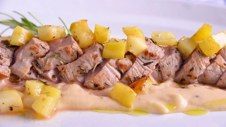 Receta | Solomillo de cerdo con texturas de manzana - canalcocina.es