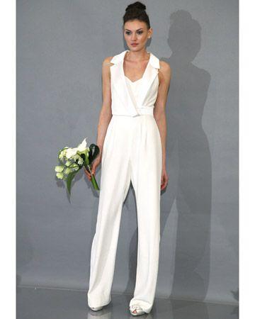 Wedding day pants! Love it! Theia Bridal Fall 2012