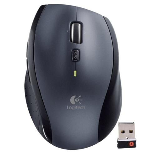 Logitech M705 Marathon 2.4GHz Wireless 8-Button Laser Scroll Mouse w/Hyper-Fast Scrolling & Nano USB Receiver - B - EVTK-910-001935-BULK-RCB