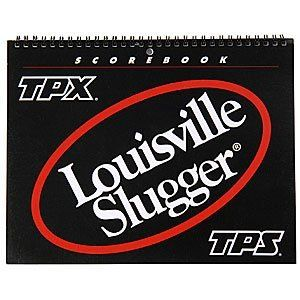 "Louisville Slugger Official Baseball & Softball Scorebook by Louisville Slugger. $5.95. A Simple & Straightforward System Of Scoring! Louisville Slugger Official Baseball & Softball Scorebooks feature: Standard size with spiral binding Includes 31 games with space for 9 innings and 15 players Scorebooks are suitable for every level of play Dimensions: 10"" x 8"" Louisville Slugger and TPX cover graphics Louisville Accessories...Perfect For Baseball!. Save 14%!"