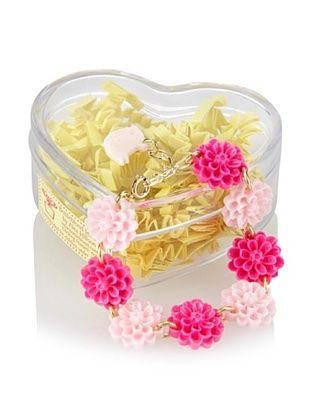 50% OFF Bottleblond Jewels Light Pink/Hot Pink Carnival Flower Bracelet