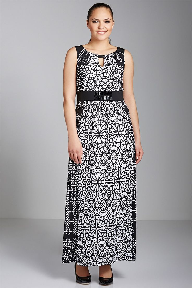 Sara Notch Neck Maxi Dress - EziBuy New Zealand