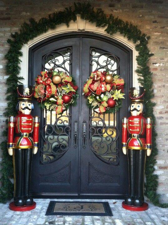 Custom Double door wreath order. #Holiday #Christmas #Home #Interior #Design #Decor ༺༺  ❤ ℭƘ ༻༻