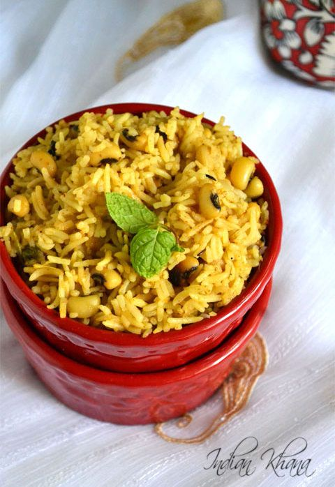 Chawali Biryani | Lobia Biryani Easy and flavorful Blackeye peas Biryani for quick lunch, lunch box options