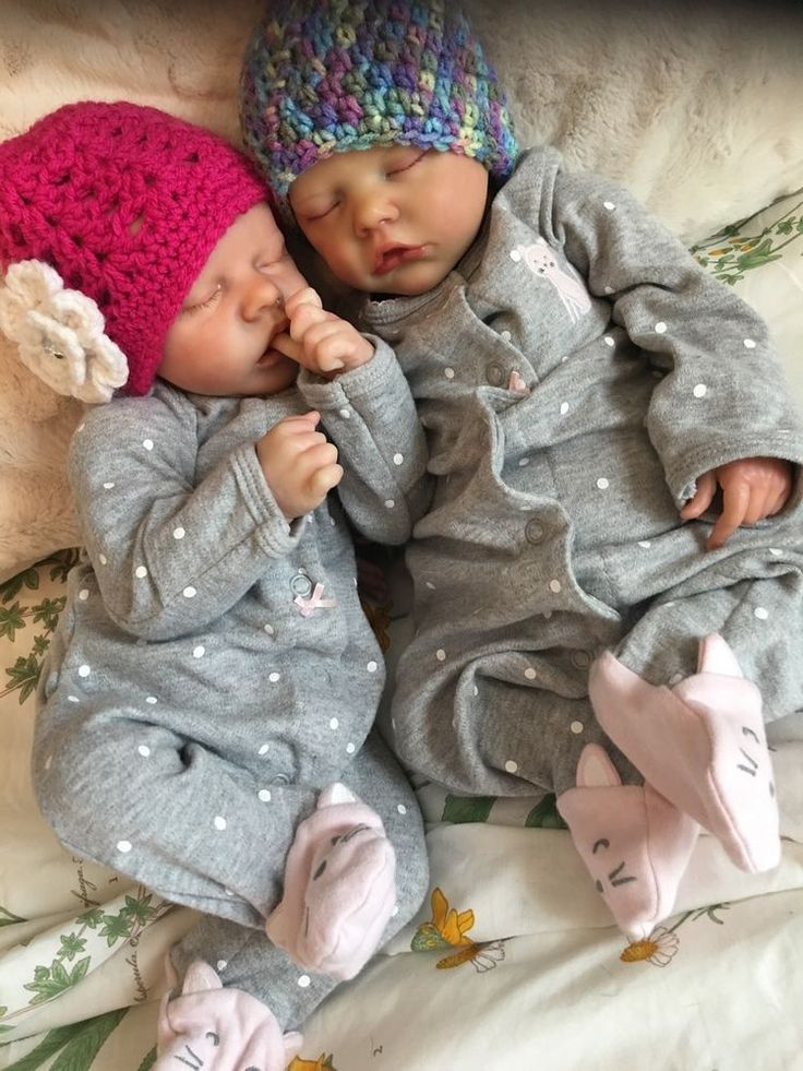 Reborn Baby Twins A And B By Bonnie Brown With Belly And COA Special!!!! #Reborn