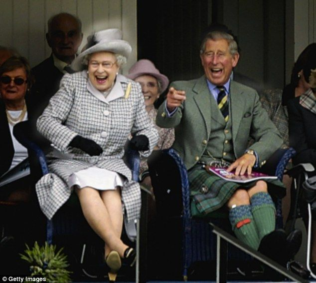 The Prince of Wales & Queen Elizabeth II - love this picture Laughter you can almost hear...by simply looking at the picture...