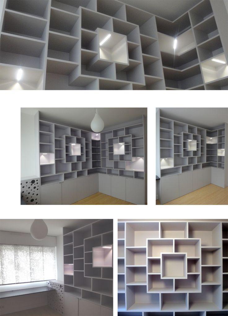 Bibliothèque en MDF peint  Mobiliers - Manon Clement - Architecture d'intérieur