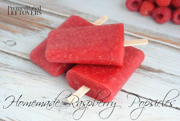 Raspberry Popsicles from Premeditated Leftovers