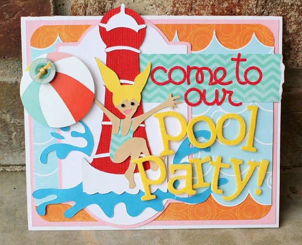 Pool Party Invitation Made Using The Cricut These Bright