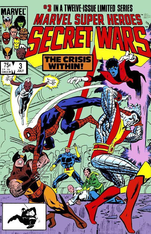 Marvel Super-Heroes Secret Wars #3 (Jul '84) cover by Mike Zeck & John Beatty