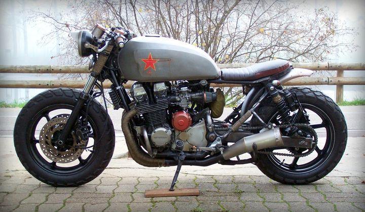 "Revolution! Honda CB750 Seven Fifty Rat Bike ""Babushka"" by Alex #motorcycles #ratbike #motos   caferacerpasion.com"