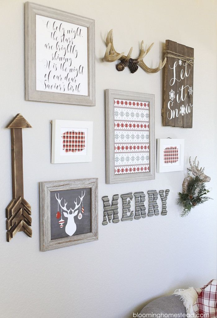 1000 ideas about christmas wall art on pinterest - Wall decoration ideas for bedrooms ...