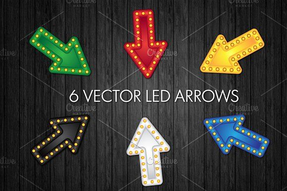 Led Arrows by barsrsind on @creativemarket