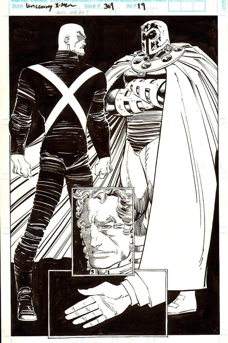 Uncanny X-Men - Professor X and Magneto by John Romita Jr.
