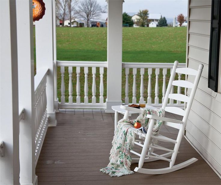 The Old Fashioned Porch Rocker Is Back! Plus This Amish Ladder Back Porch  Rocker