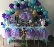 Discount Little Mermaid Princess theme party supplies to help you create the perfect birthday celebration. Seashell trimmed Lilac Tutus, Tiaras, Bubble Wands, Crafts, Games and so many more ideas are what you will find at My Princess Party to Go.