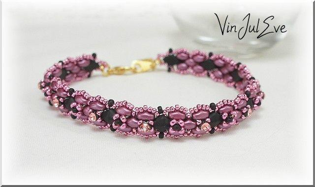 bracelet savigny rose noir