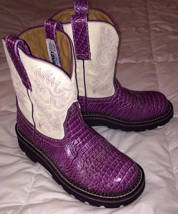 Purple Ariat Fatbaby Boots Coltford Boots
