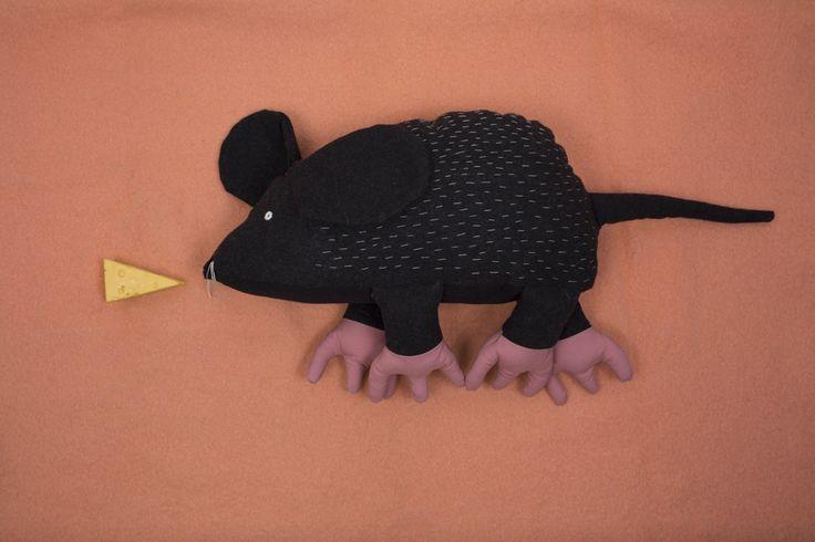 Soft woolen Miranda mouse, plush toy, soft toy, wool toy, kids design, pookatoys, pooka /pookatoys/
