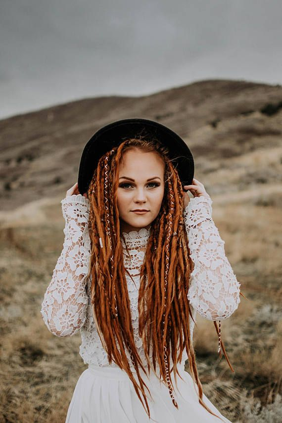 34 Synthetic Dreadlocks DE dread extensions Double Ended