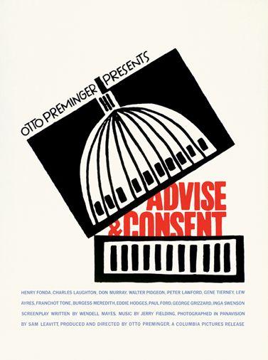 SAUL BASS.ADVISE AND CONSENT.OTTO PREMINGER.1962