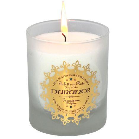 bougie parfumée, Epiphanie, bougie odeur de galette, bougies Durance