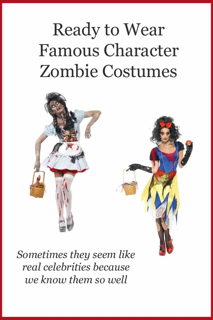 Famous Character Zombie Costumes