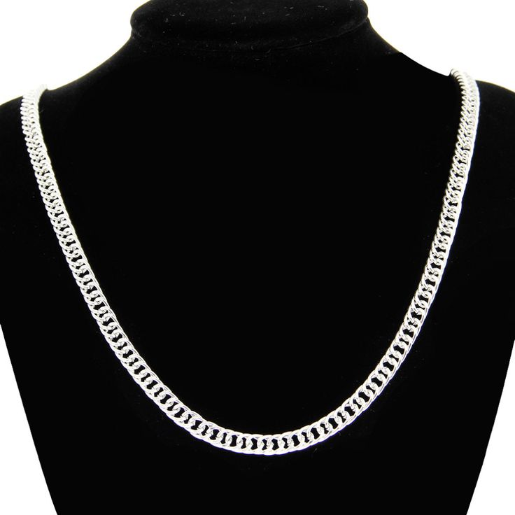 2016 New Fashion Unisex Silver 925 Sterling Silver Necklace For Mens Women Sterling Silver Jewelry Free Shipping SH32