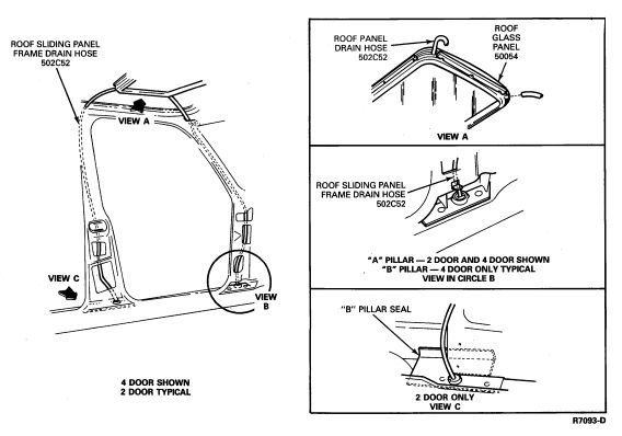 Image result for 2012 ford escape sunroof drain diagram