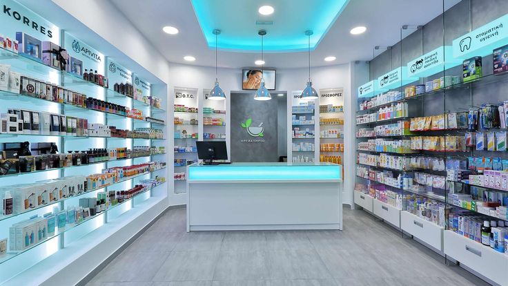 Decoration study, construction, pharmacy design and equipment in Rethymno, owned by Dandoulaki Stavroula