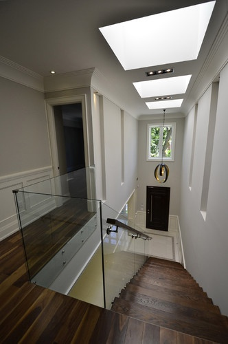 skylights and glass railing