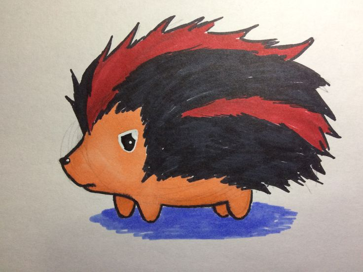 My adorable version of Shadow the Hedgehog that I drew for a friend.