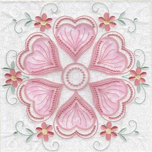 CSkeldale House ITH Applique Quilt Blocks Hearts N Flowers 6 Machine Embroidery QuiltsApplique QuiltsMachine DesignsEmbroidery