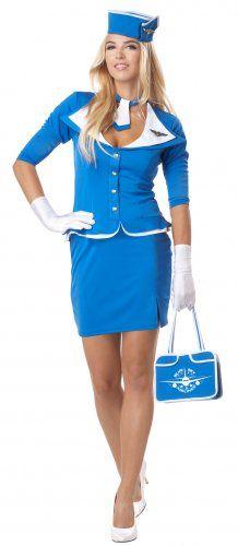 retro pilot and stewardess