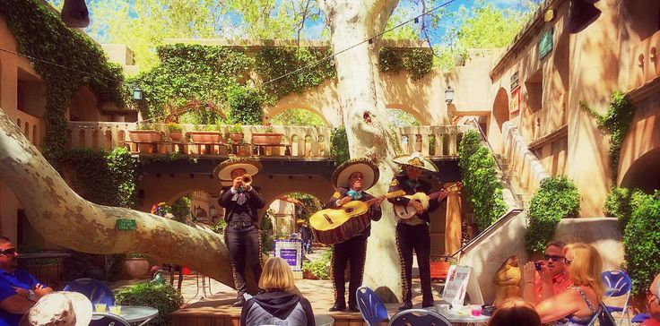 """The 40 year celebration ~Fiesta El Rincon~ continues, all week, every day! Enjoy succulent Green chili #Navajo Pizza! Filet mignon Chimichanga! Mexican beer! #World #Famous #Margarita #Magnifica! ...In the Courtyard at Tlaquepaque Arts and Crafts Village: """"MARIACHI AZTECA DE ORO"""" performs DAILY from 12:00-2pm ~~ ...and #EVERY #EVENING from 5:30-7:30pm: Gaetano Returns for a Season of Flamenco in the Courtyard!!! with his #FABULOSO Gypsy Flamenco! Ole!!"""