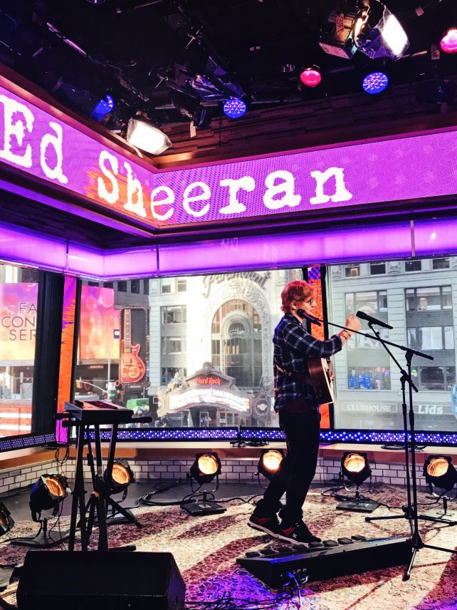ed sheeran good morning america 2017