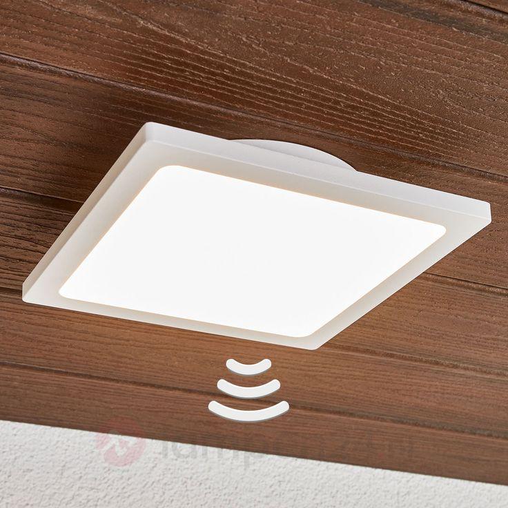 Witte LED buitenplafondlamp Mabella met sensor veilig & makkelijk online bestellen op lampen24.nl