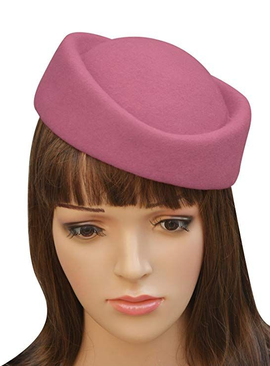 a9f67b14 Lawliet Cocktail Fascinator Base Wool Air Hostesses Pillbox Hat Millinery  Making A139 (Pink)