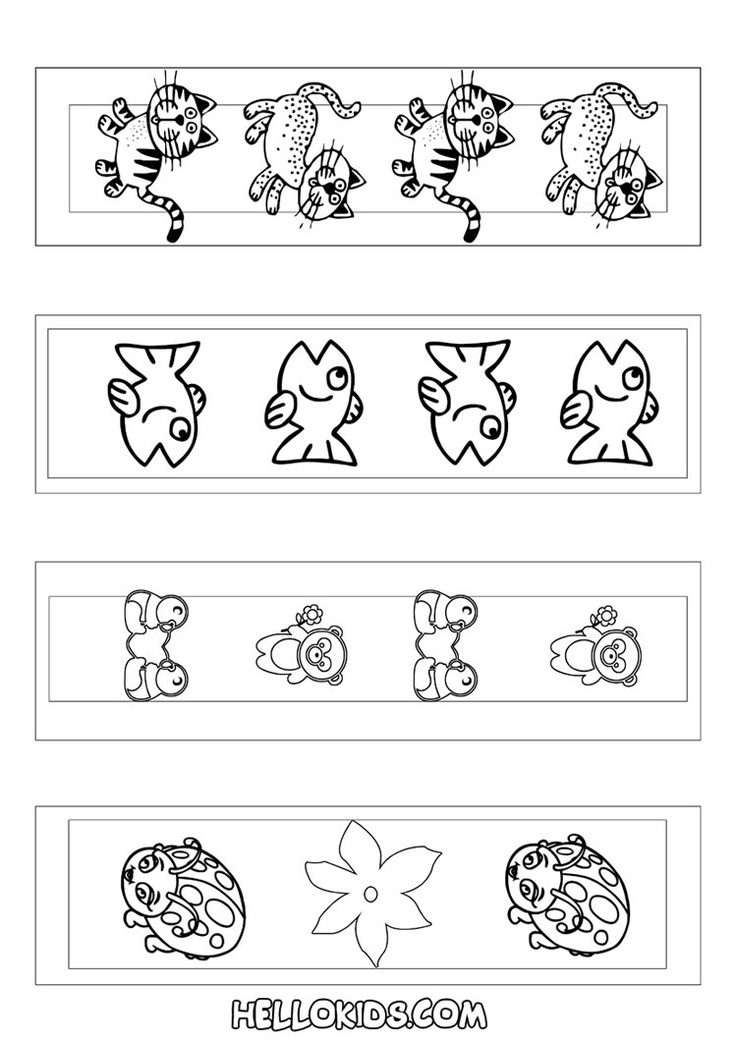 Cute Animal Bookmarks Coloring Page