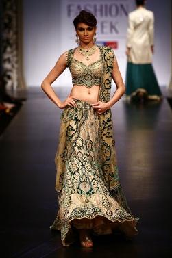 Satya Paul wedding lehenga more inspiration @ http://www.ModernRani.com