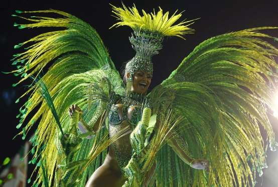 A reveller of the Imperatriz samba school performs during the carnival parade at the Sambadrome in Rio de Janeiro A reveller of the Imperatriz samba school performs during the carnival parade at the Sambadrome in Rio de Janeiro, February 9, 2016.