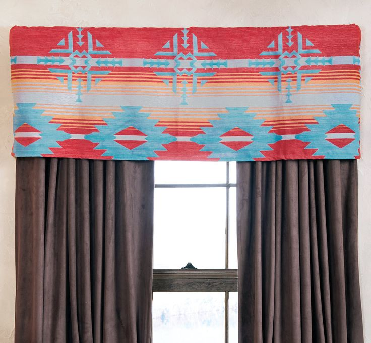 Sunset Point Southwestern Valance