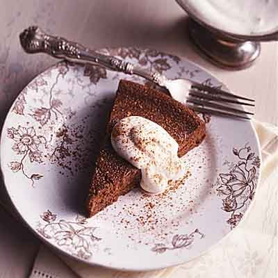 This is a moist, rich chocolate cake made totally without flour.
