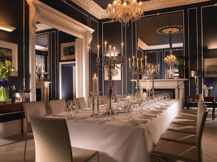 Private dining, at Number 25 Fitzwilliam Place, Dublin, Ireland