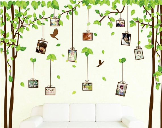 Green Leaf Tree Photo Frame Wall Decal by WallStickersDecal, $16.00