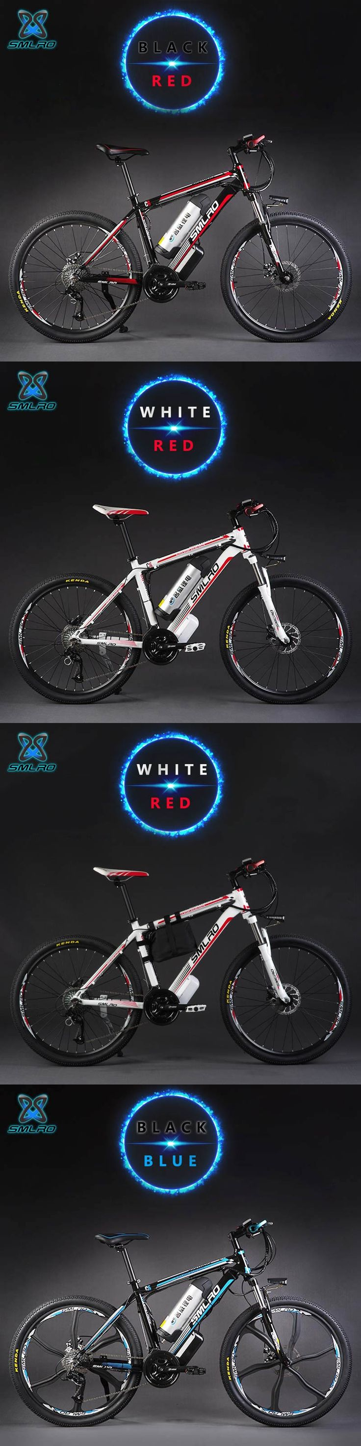 26-inch aluminum alloy oil brake 27-speed electric mountain bike 48V lithium battery smart electric bicycles 500W motor-assisted