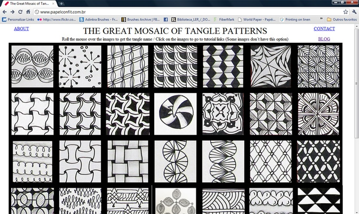 Tangle Brasil: Padrões/Patterns